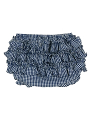 Rosalina Navy-Blue-Ruffled Diaper Cover - Front cropped