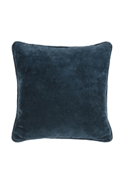 Ganz Navy Blue Velvet Pillow - Product Mini Image