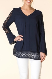 Yest Navy Boho Blouse - Product Mini Image