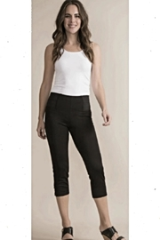 Simply Noelle Navy Button Capri-Pants - Front cropped
