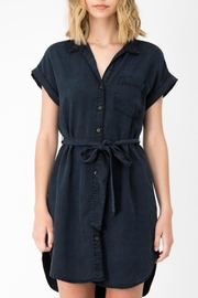 Sneak Peek Navy Button Dress - Product Mini Image