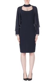 Joseph Ribkoff Navy Cape Dress - Product Mini Image