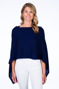 Alashan Navy Cashmere Topper - Product List Image