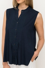 Mystree Navy Chambray Tank - Product Mini Image