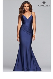Faviana Navy Charmeuse Gown - Product Mini Image
