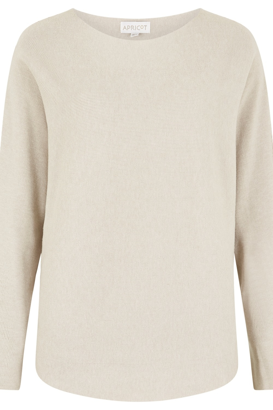 Apricot Clean Look Batwing Sweater Top - Front Cropped Image
