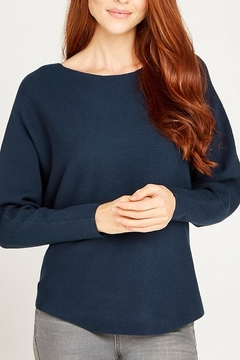 Apricot Clean Look Batwing Sweater Top - Product List Image