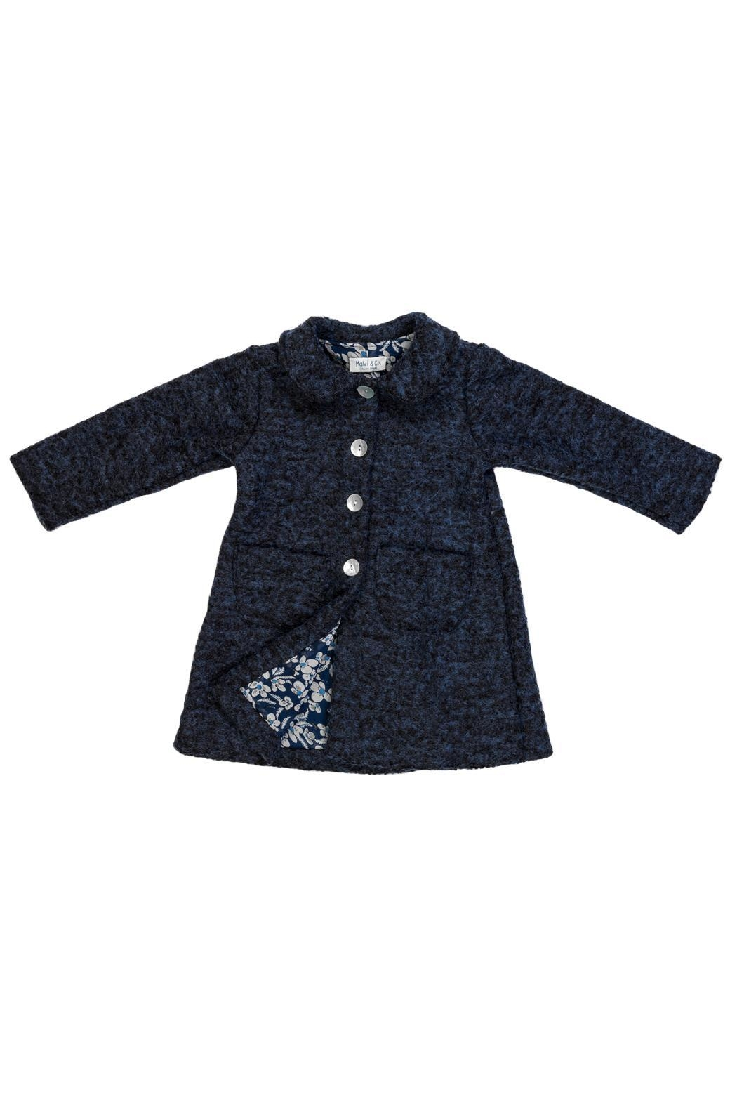 Malvi & Co. Navy Coat. - Front Cropped Image