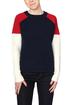 Just Female Navy Colorblock Sweater - Product List Image