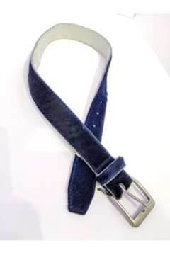DiJore Navy Cow Hide Belt - Product List Image