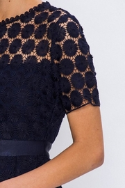 The Vintage Valet Navy Crochet Dress - Side cropped