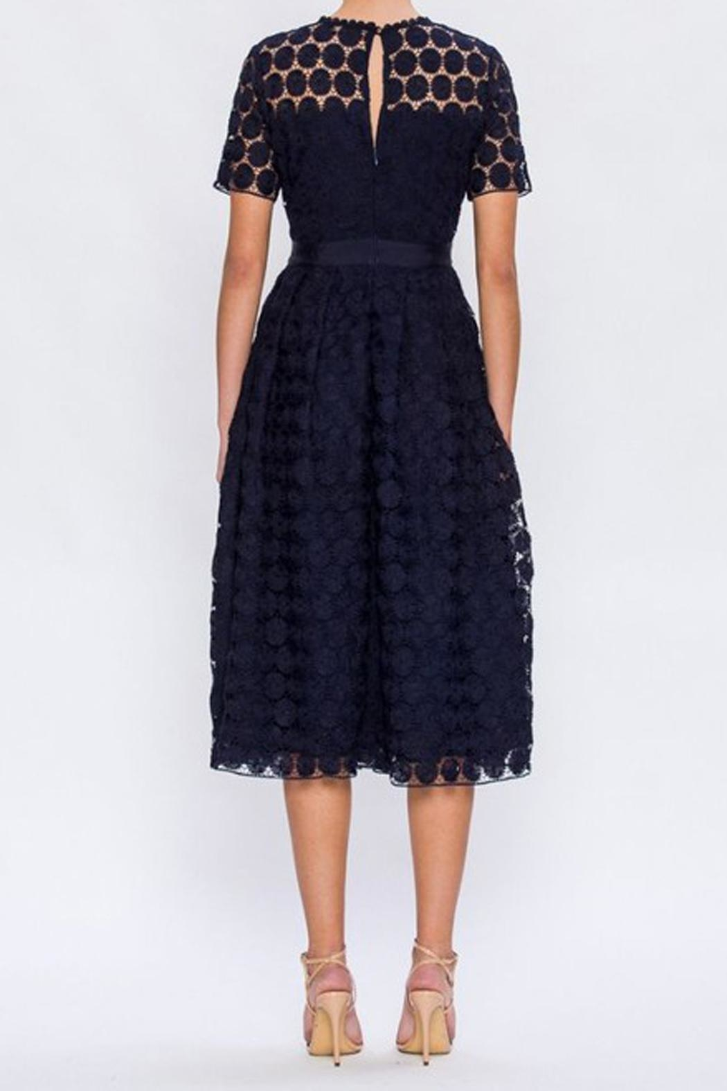 The Vintage Valet Navy Crochet Dress - Front Full Image