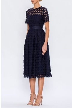 Shoptiques Product: Navy Crochet Dress