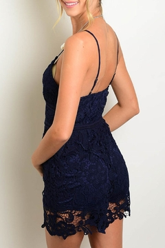 Depri Navy Crochet Romper - Alternate List Image