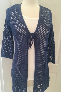 Marble Navy crocheted cardigan - Alternate List Image