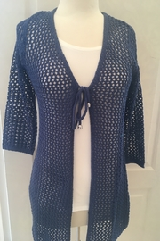 Marble Navy crocheted cardigan - Product Mini Image