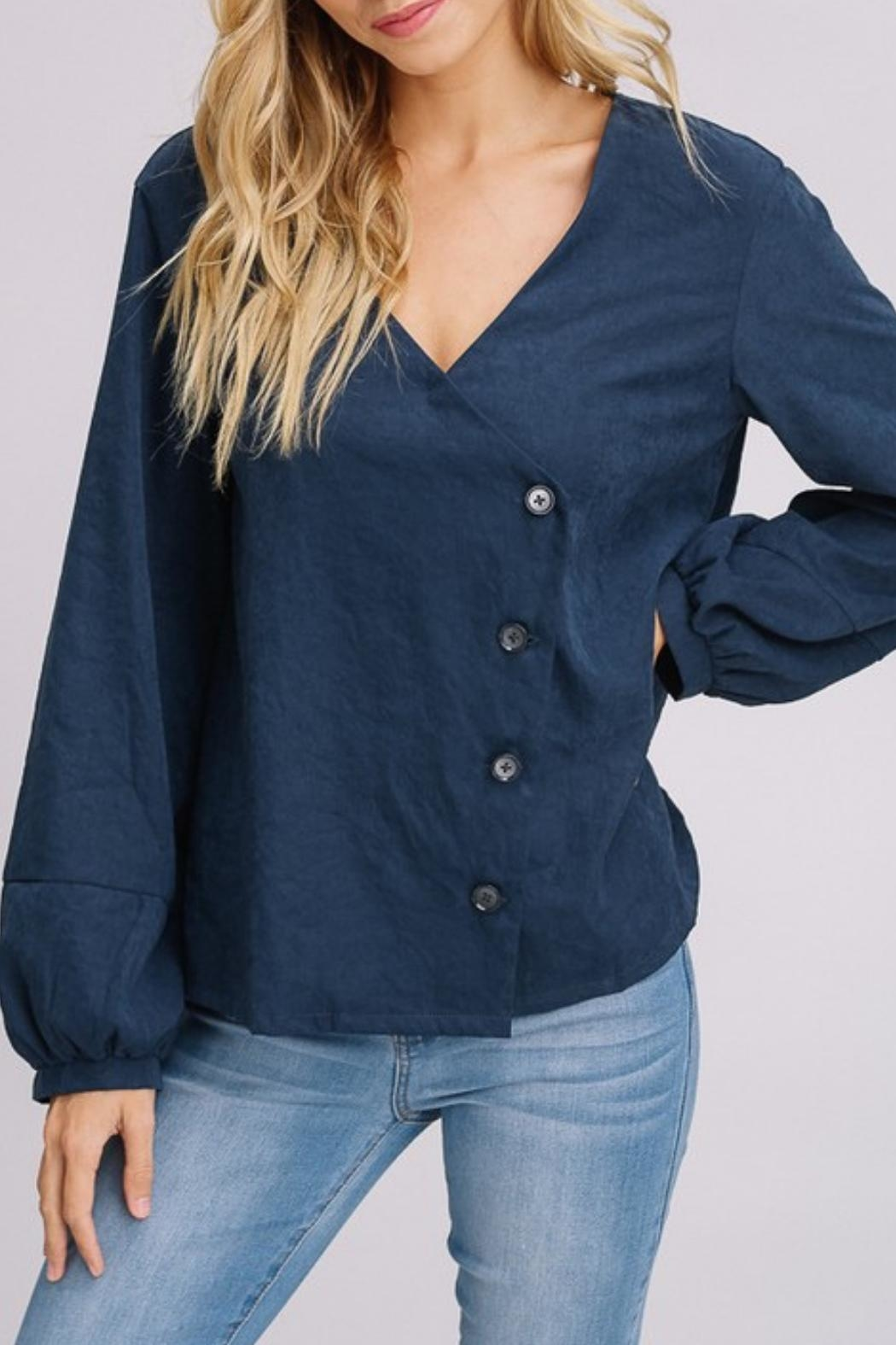 Listicle Navy Cross Button-Down - Main Image