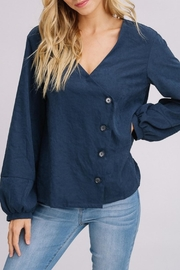 Listicle Navy Cross Button-Down - Product Mini Image