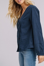 Listicle Navy Cross Button-Down - Front full body