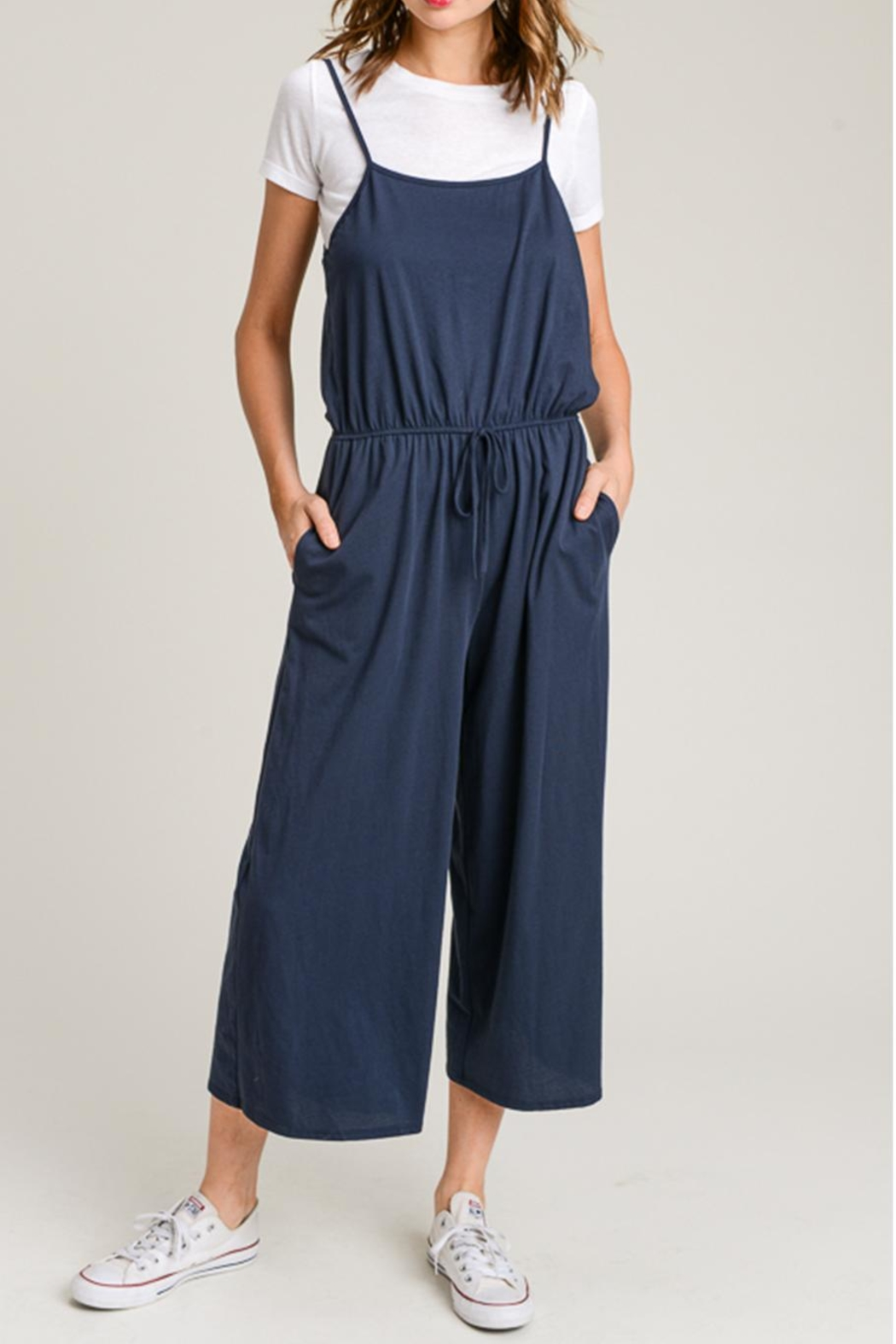 Wasabi + Mint Navy Culotte Jumper from New York by Dor L Dor ... 8d787c990