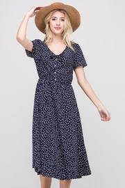 Les Amis Navy Dainty-Dots Dress - Side cropped