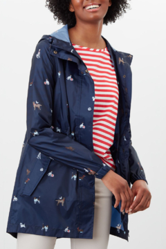 Joules Navy Dogs Golightly Coat - Product List Image