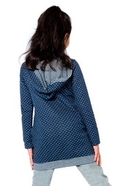 Deux Par Deux Navy Dot Tunic - Front full body