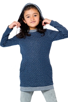 Deux Par Deux Navy Dot Tunic - Product List Image
