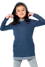 Deux Par Deux Navy Dot Tunic - Product Mini Image