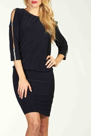 Frank Lyman Navy Dress - Front cropped