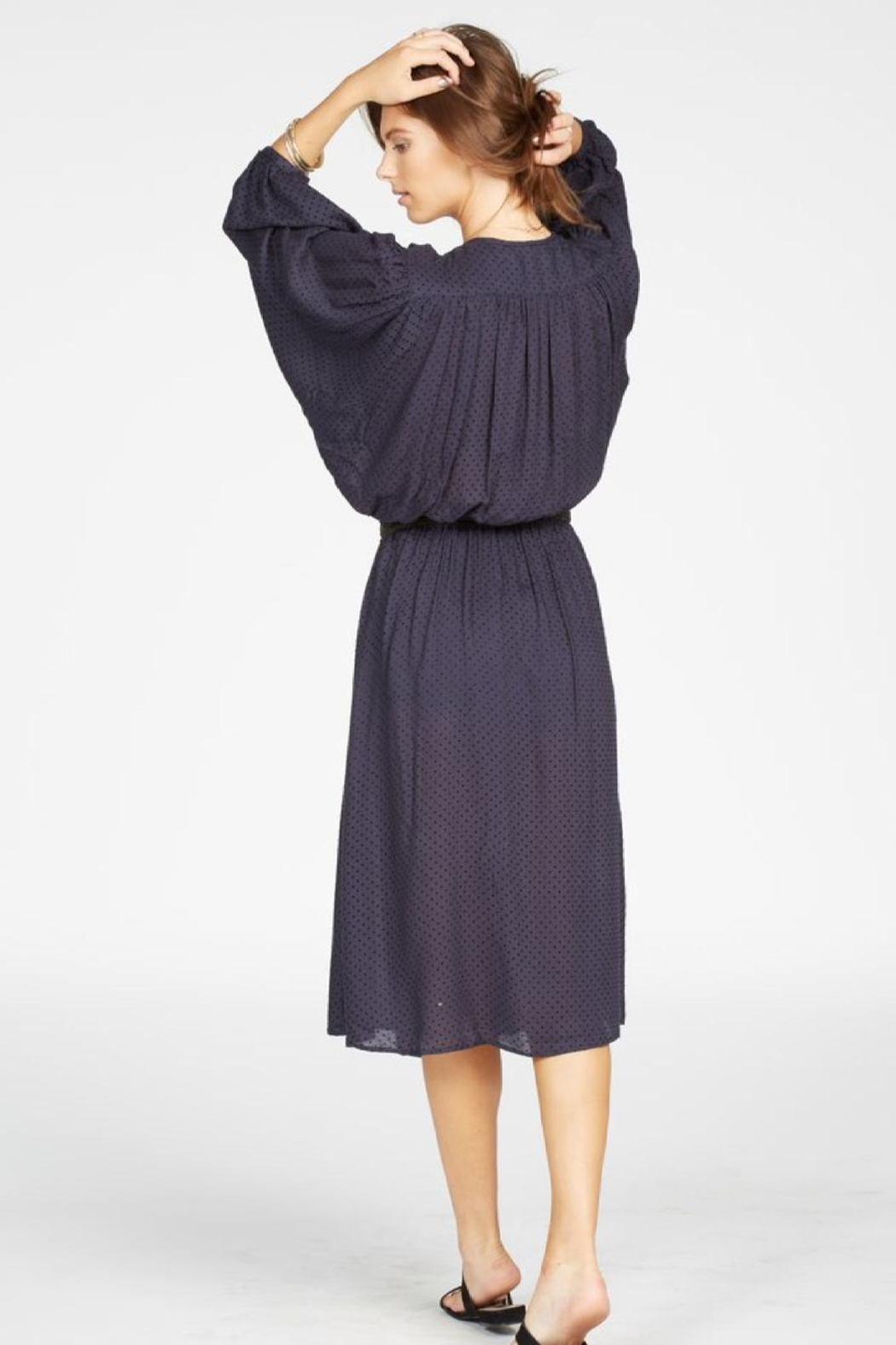 Knot Sisters Navy Dress - Side Cropped Image