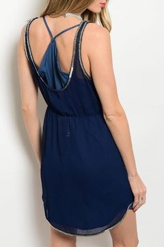 Aryn K Navy Embellished Dress - Alternate List Image