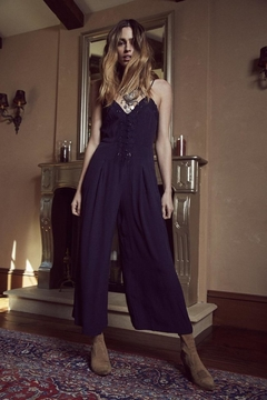 SAGE THE LABEL Navy Embroidered Jumpsuit - Product List Image