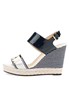 Shoptiques Product: Navy Espadrille Wedge