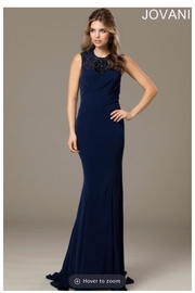 Jovani Navy Evening Gown - Product Mini Image