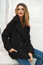 C + D + M Navy Faux Shearling Jacket - Super Soft! - Product Mini Image