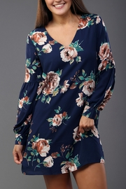 Everly Navy Floral Dress - Product Mini Image