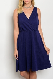 Shop The Trends  Navy Floral Dress - Product Mini Image