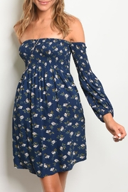 Available Navy Floral Dress - Product Mini Image