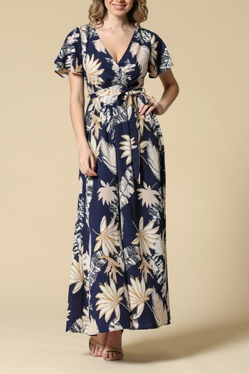 Illa Illa Navy Floral Dress from California by Apricot Lane - Folsom — Shoptiques