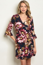 PEACH AND LOVE Navy Floral Dress - Product Mini Image