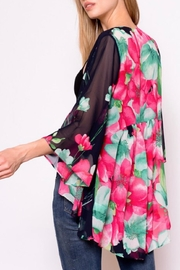 Chris & Carol Navy Floral Kimono - Product Mini Image