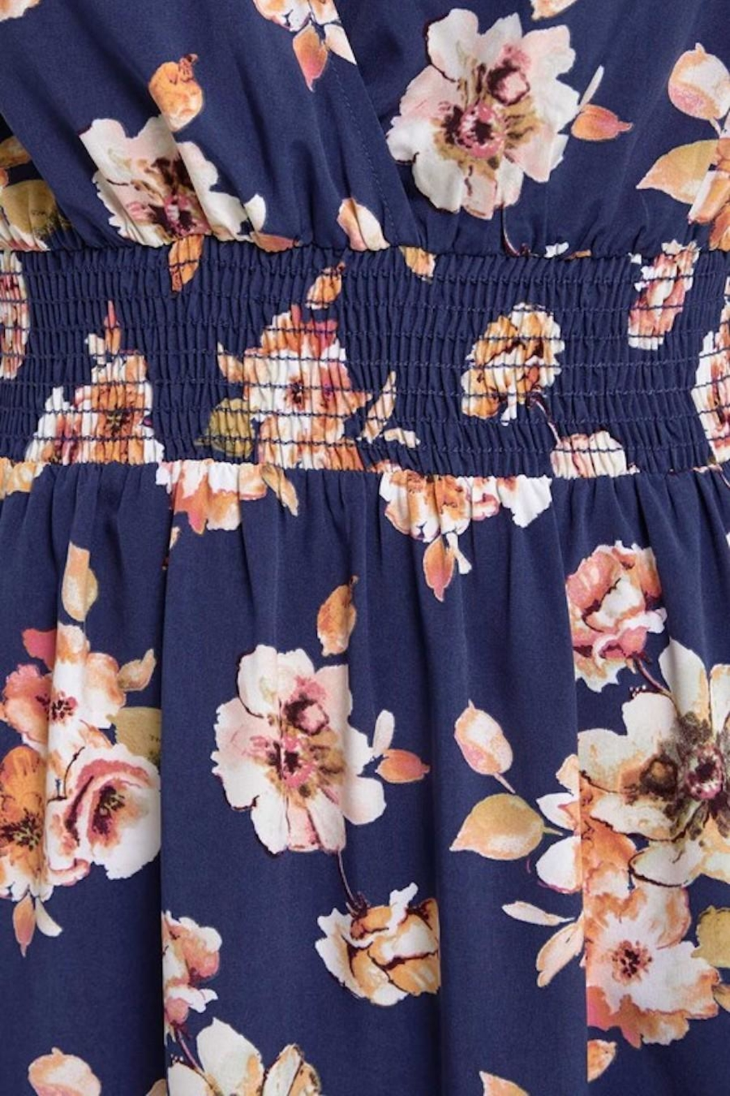 Soprano Navy Floral Maxi - Back Cropped Image