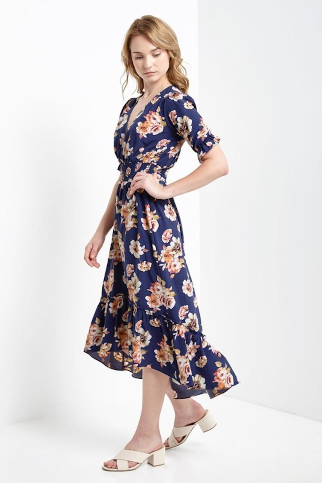 Soprano Navy Floral Maxi - Front Full Image
