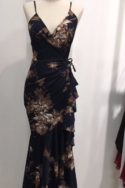 luxxel Navy Floral Maxi - Front cropped