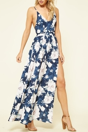 Promesa USA Navy Floral Maxi-Dress - Product Mini Image