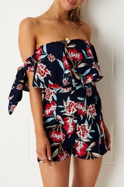 frontrow Navy Floral Playsuit - Product Mini Image