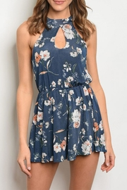 Maronie  Navy Floral Romper - Product Mini Image
