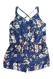 Bailey's Blossoms Navy Floral Romper - Front cropped