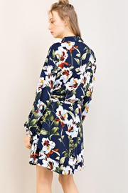 Compendium Navy Floral Shirtdress - Side cropped